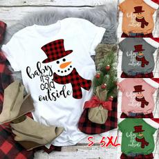 cute, Plus Size, snowmanprint, Christmas