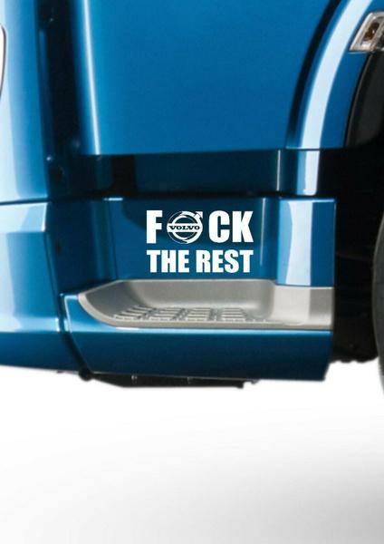 VOLVO FH16 LOGO DECAL X2 FH12 FH16 FM  GLOBETROTTER HAULAGE STICKER TRUCK DRIVER