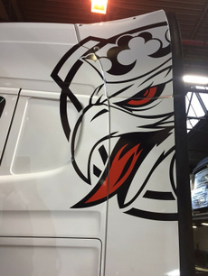 colour, griffin, Graphic, scania