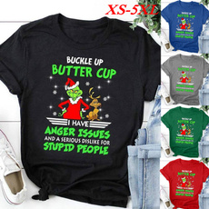Shorts, Christmas, letter print, Shirt