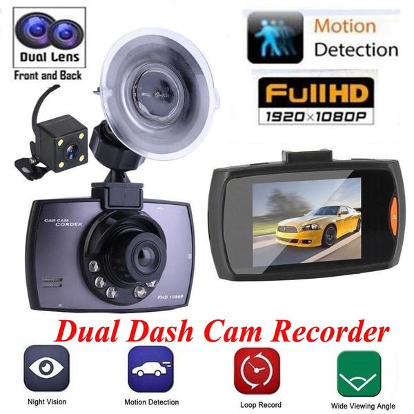 Dual Lens Car DVR Camera HD Camcorder CMOS 1080P Night Vision Video Recorder