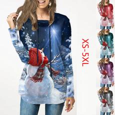 Plus Size, christmasblouse, Sleeve, christmassweatshirt