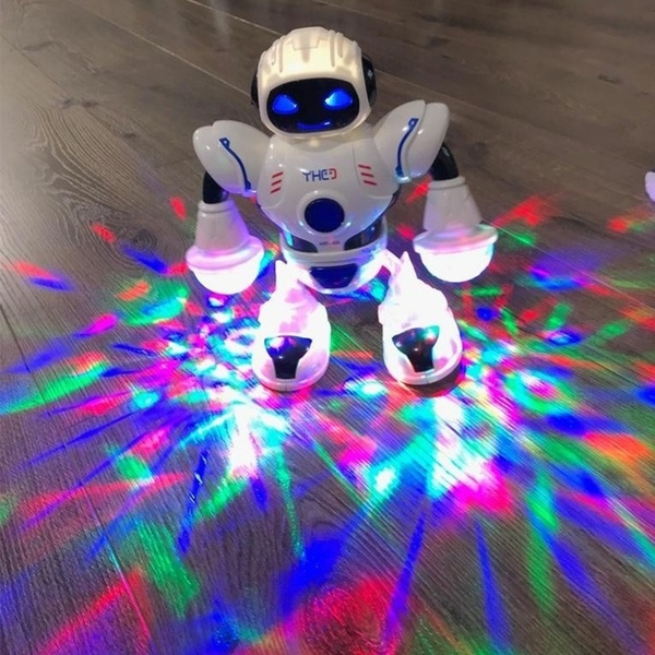 LED Light Music Electric Dancing Robot Space Walking Robot Kid Boy Toy Xmas gift