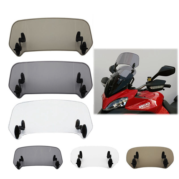 Adjustable Wind Screen Windshield Spoiler Air Deflector For Honda BMW