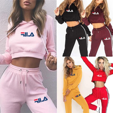 Two-Piece Suits, pants, Cropped Hoodie, sweat suit