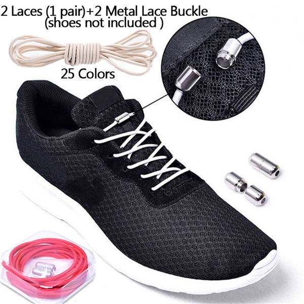 Elastic No-Tie Locking Shoelaces Shoe Laces With Buckles For Sport Shoes