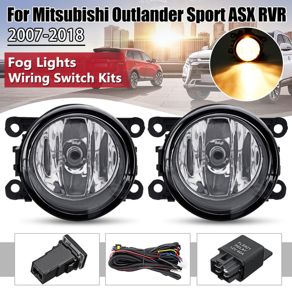 [SCHEMATICS_4US]  Pair Front Bumper Fog Light Lamps with Harness For Mitsubishi ASX /  Outlander / Outlander Sport / RVR | Wish | Mitsubishi Outlander Wiring Harness Lights |  | Wish