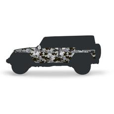 Armor, Jeep, wrangler, vehiclebodyhooddoorhingegrillprotector