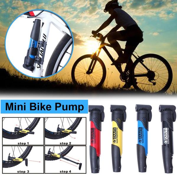 Mini Portable High-strength Air Pump Bike Tires Inflator Super Light Accessories