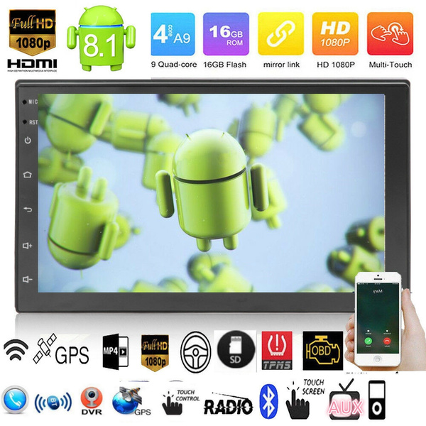 """2Din Android 8.1 7/"""" 1080P Touch Screen Quad-Core Car Stereo Radio GPS Wifi OBD"""