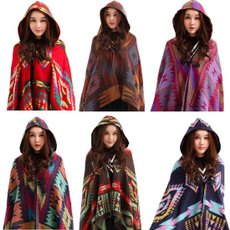 gypsyponcho, women scarf, hooded, bohemiancoat