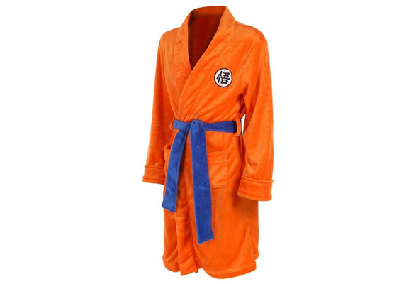 Dragon Ball Z GOKU Winter Bath Robe Fleece Bathrobe Sleepwear Cosplay Costume