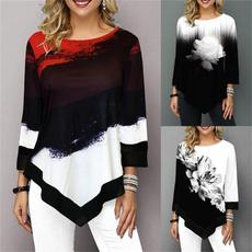 blouse, casualtshirtforwomen, Plus Size, Tops & Blouses