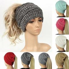 Warm Hat, ponytailhat, Fashion, messybunhat