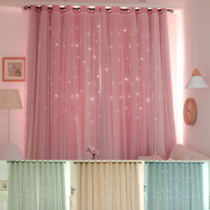 bedroomcurtain, Star, Home Decor, doublelayercurtain