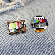 tvbrooch, brooches, Jewelry, Pins