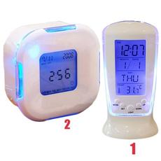 ledcolorchangingalarmclock, led, leddesktopalarmclock, thermometerclock