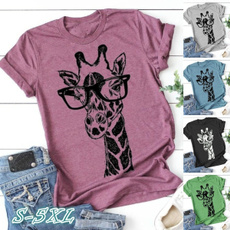 bohemia, Plus Size, Cotton T Shirt, short sleeves