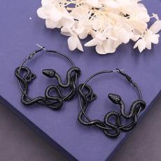 medusaserpent, royalsnakeearring, Hoop Earring, Jewelry