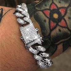 Sterling, Fashion, hiphopbracelet, chainbraceletformen