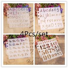alphabetletter, Scrapbooking, Home Decor, paintingstencil
