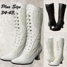 laceweddingshoe, midcalfboot, Lace, long boots