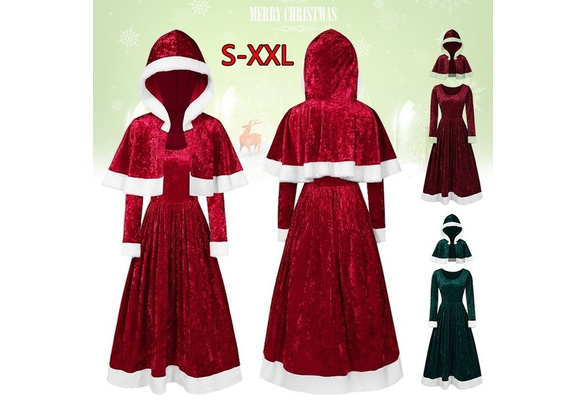 Roblox Good Outfits For Christmas Cloak New Christmas Gold Velvet Cloak Long Sleeve Dress Peluche Xmas Women Costume Wish