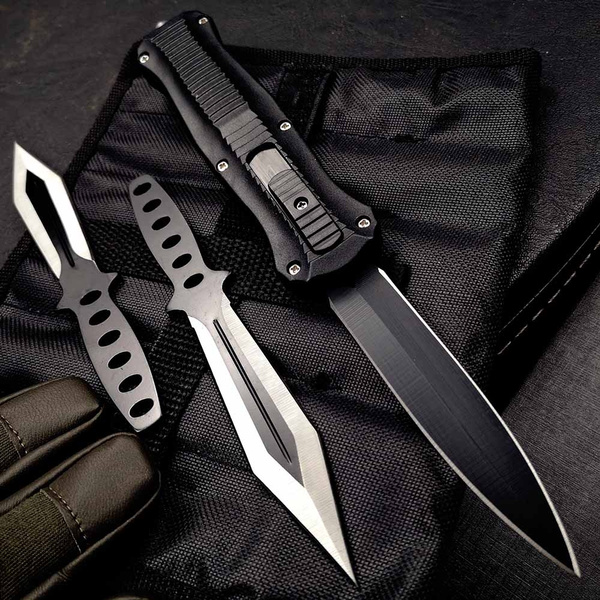 Tactical Automatic Assisted Otf Knife Hidden Blade Assassin S