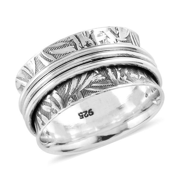 Elegant Unique Stylish 925 Sterling Silver Boho Handmade Statement Engagement Spinner Bridal Ring Women Jewelry