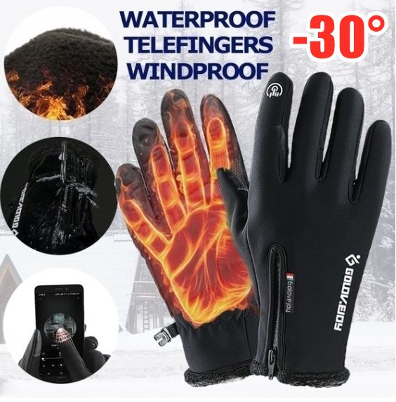 Winter Warm Riding Gloves Touch Screen Windproof Motorcycle Bike Glove Unisex