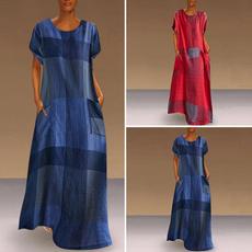 dressesforwomen, long dress, short sleeve dress, Dress