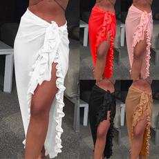 Summer, summer skirt, ruffle, chiffon