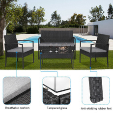 outdoorfurniture, Outdoor, wickertable, Home & Living