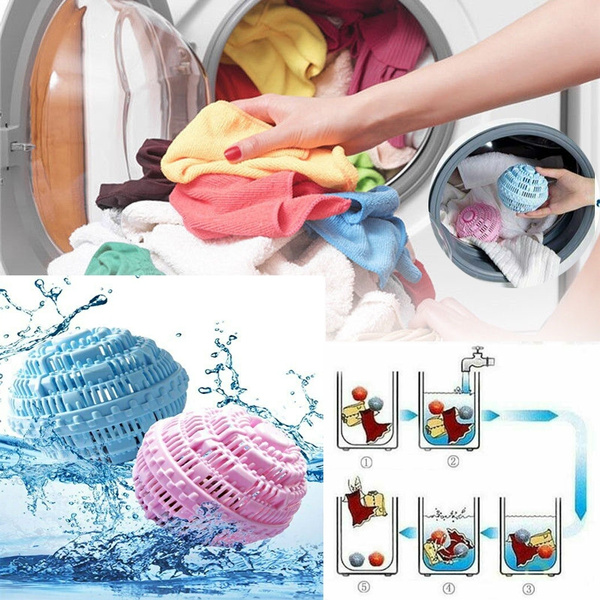 Reusable Laundry Cleaning Ball Magic Anti Winding Clothes Washing