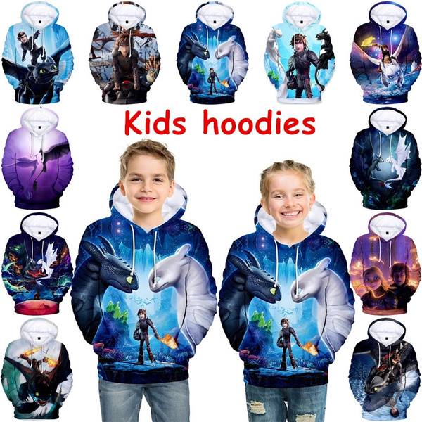 How to Train Your Dragon Boys Girls Kids 3D Printing Sweatshirt Hooded Pullover