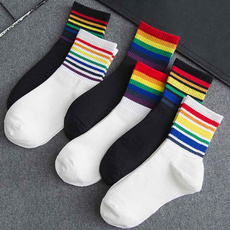 rainbow, cute, casualsock, Socks