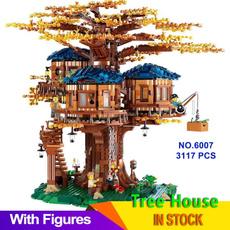 building, leaves, Set, house