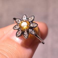 Sterling, DIAMOND, wedding ring, 925 silver rings