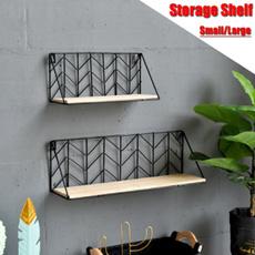 storagerack, metalrack, Wooden, Shelf