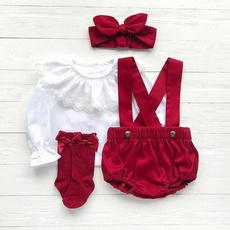 kids, babychristmasoutfit, babygirlslacetshirt, Lace