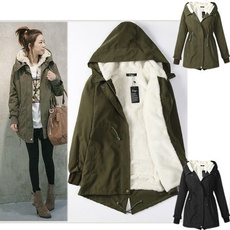 Fleece, hooded, Winter, coatsampjacket