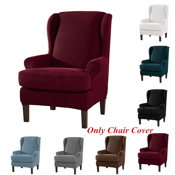 Stretch Slipcover Wingback Chair Cover