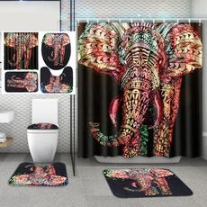 Bathroom, bathmat, pedestalrug, Shower Curtains