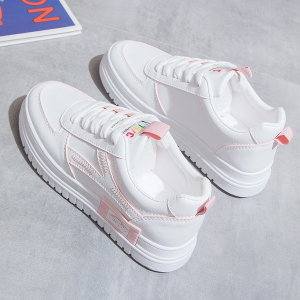 Small white shoes women 2019 autumn new Korean version of Joker casual running student shoes platform shoes women's shoes tide