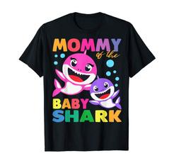 Shark, Birthday, Shirt, Baby