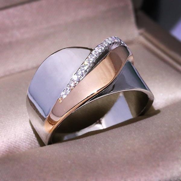Women S Fashion Simple Diamond Jewelry 925 Sterling Silver 14k