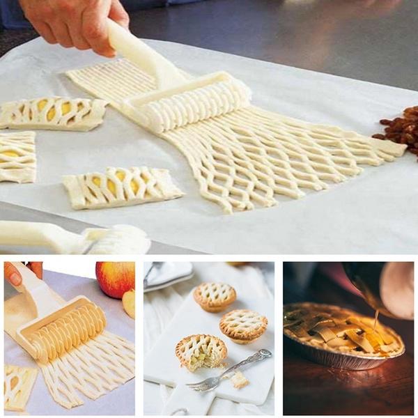 Kitchen Baking Dough Bread Cookie Pie Pizza Pastry Lattice Roller Cutter Plastic