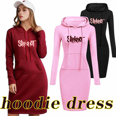 dress slim, Hoodies, Long Sleeve, Dress