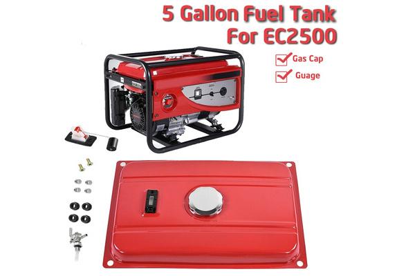 5 Gallon Generator Gas Tank Fuel Filter Cap Gauge Petcock Fits EC2500 Engine