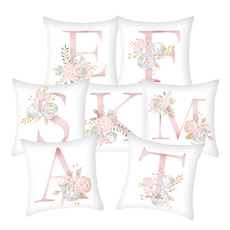 pink, Polyester, letter print, Sofas